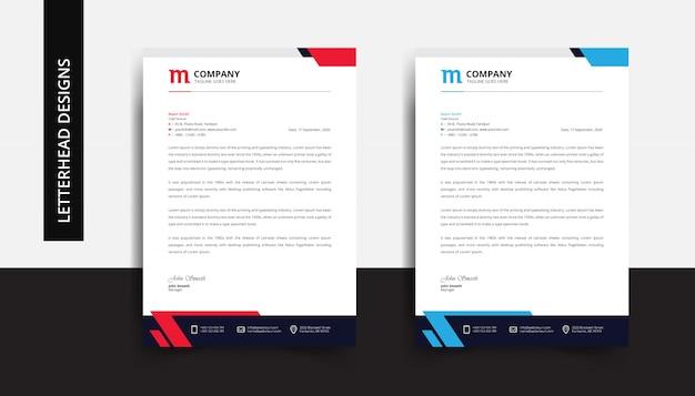 Modelo de design de papel timbrado de negócios corporativos