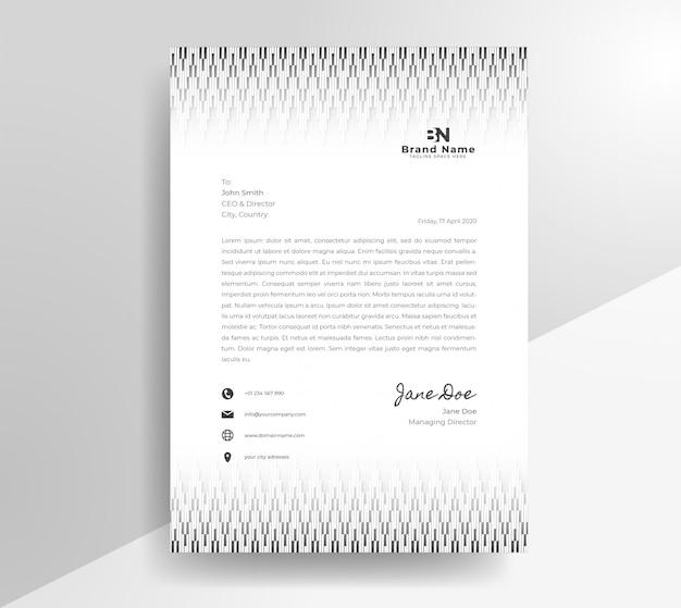 Modelo de design de papel timbrado étnico