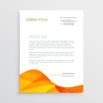 Modelo de design de papel timbrado laranja
