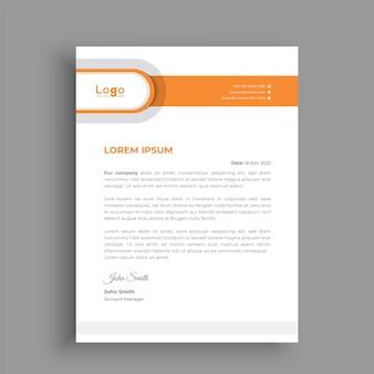 Modelo de design de papel timbrado para sua empresa