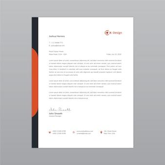 Modelo de design de papel timbrado