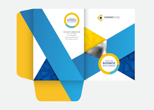 Modelo de design de pasta de apresentação