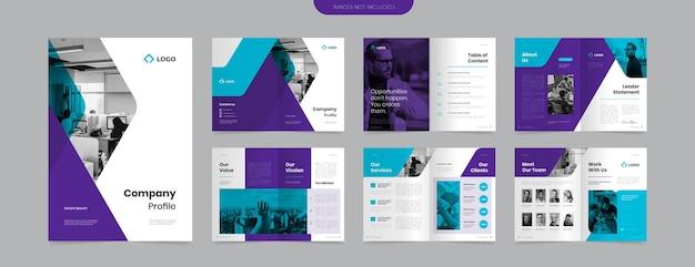 Modelo de design de perfil de empresa moderno e vibrante