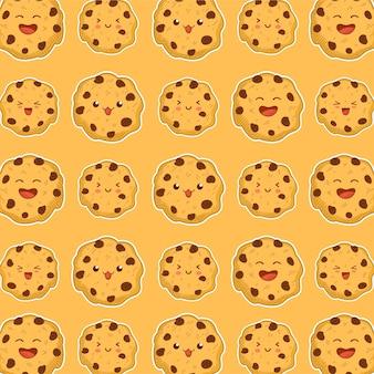 Modelo de design de plano de fundo de personagem de biscoito