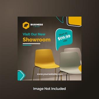 Modelo de design de post de venda de móveis