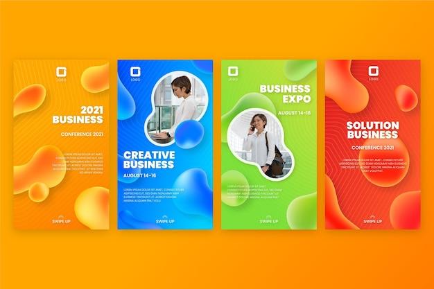 Modelo de design de post instagram empresarial gradiente