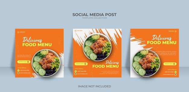 Modelo de design de postagem de banner de promoção de mídia social