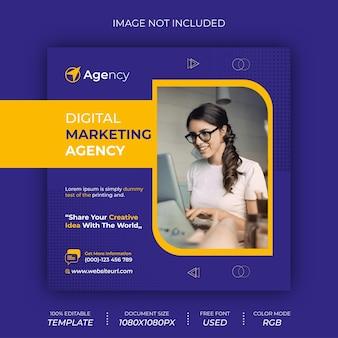 Modelo de design de postagem de mídia social de marketing digital