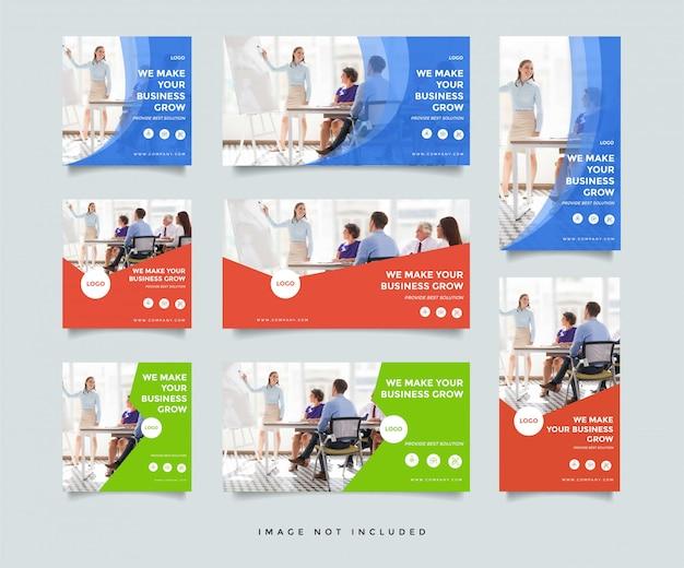 Modelo de design de postagem de mídia social de negócios