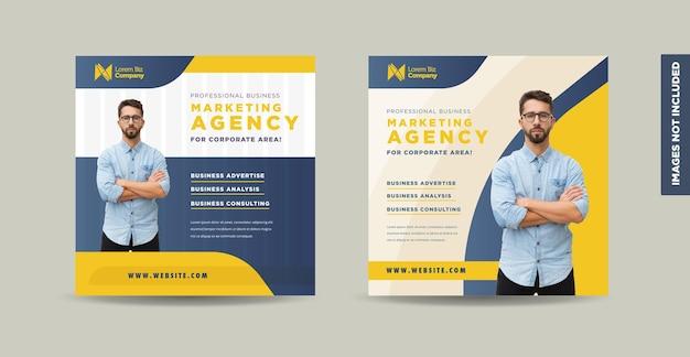 Modelo de design de postagem de mídia social empresarial