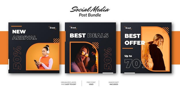 Modelo de design de postagem de mídia social para promoção