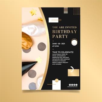 Modelo de design de pôster de aniversário