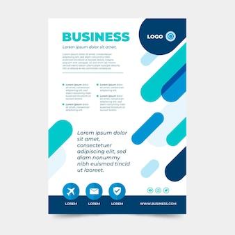 Modelo de design de pôster de empresa de negócios