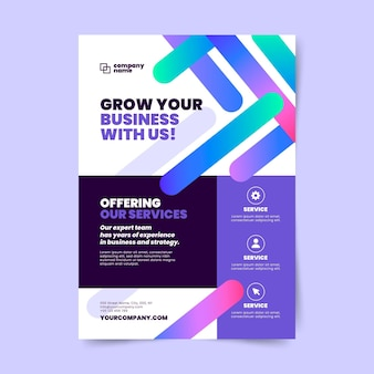 Modelo de design de pôster de negócios