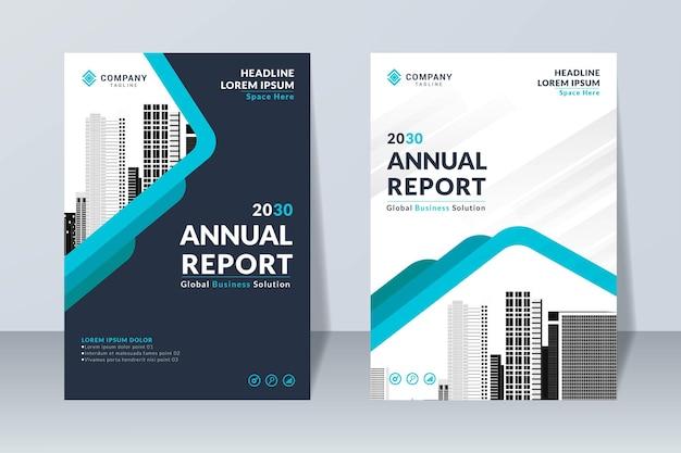 Modelo de design de relatório anual criativo