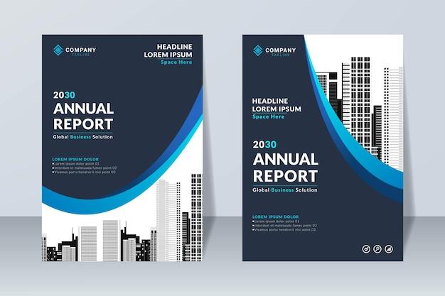 Modelo de design de relatório anual elegante