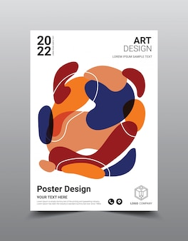 Modelo de design de revista de pôster criativo. fundo abstrato legal
