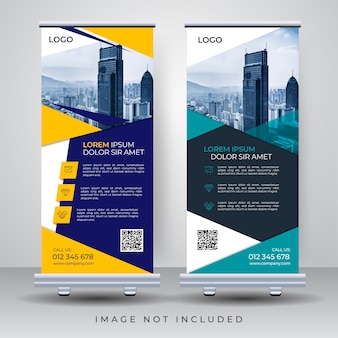Modelo de design de roll up banner