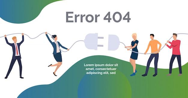 Modelo de design de site de erro