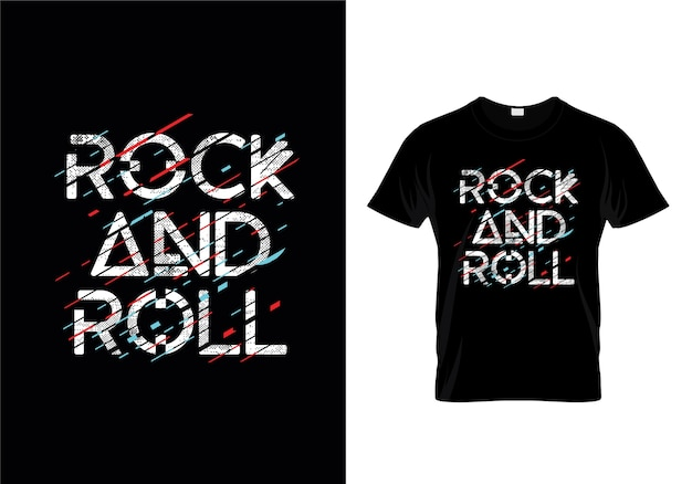 Modelo de design de t-shirt de rock and roll