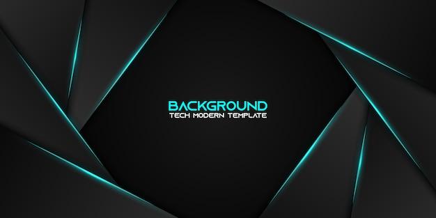 Modelo de design de tecnologia moderna abstrata metálico azul preto layout de quadros