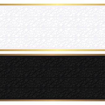 Modelo de design de vale-presente de luxo de restaurante com menu