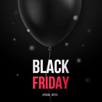 Modelo de design de venda de sexta-feira negra com balão preto.