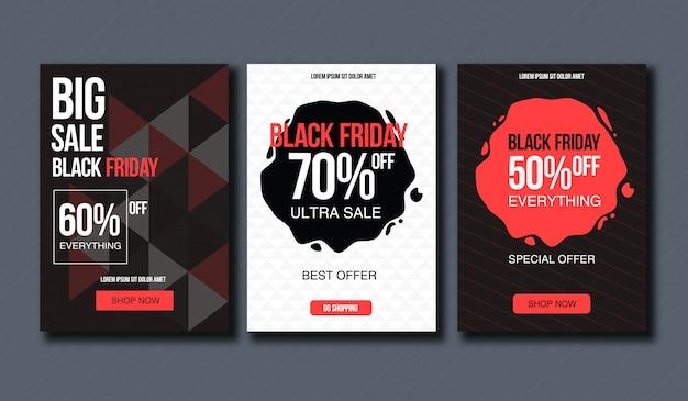 Modelo de design de venda sexta-feira negra. layout conceitual para banner e impressão.