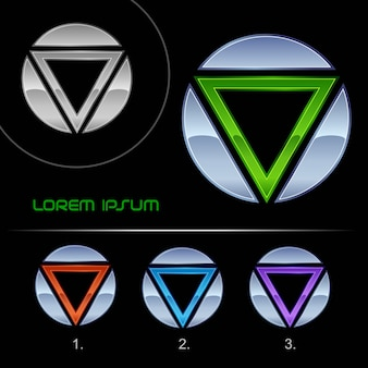 Modelo de design de vetor abstrato de negócios logotipo moderno, logotipo de alta tecnologia