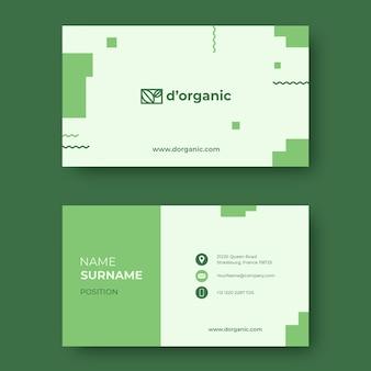 Modelo de design de vetor de cartão de visita de alimentos orgânicos e saudáveis