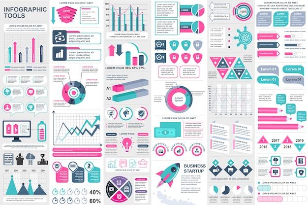 Modelo de design de vetor de elementos infográfico
