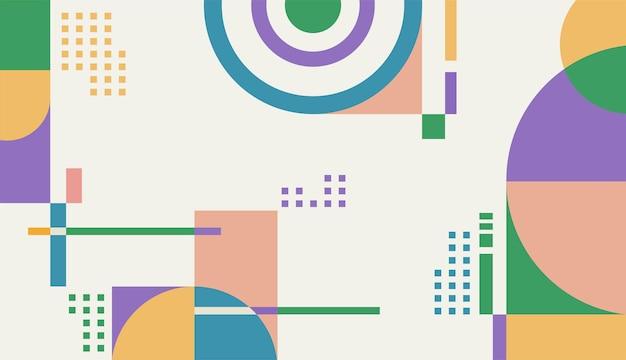 Modelo de design de vetor de fundo de formas geométricas