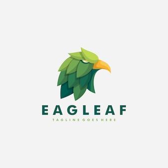 Modelo de design de vetor de ilustração de folha de águia