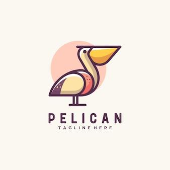 Modelo de design de vetor de ilustração de pelicano
