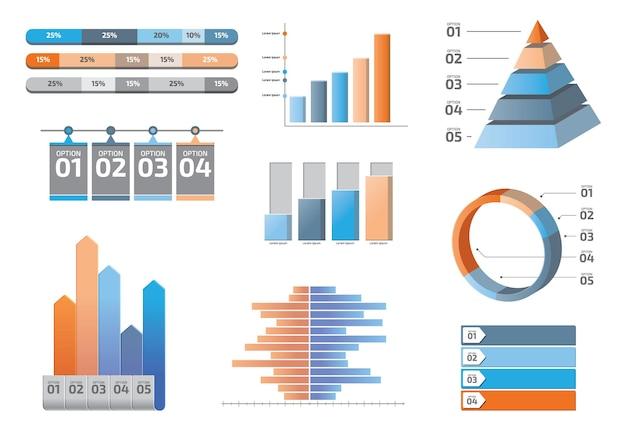 Modelo de design de vetor de visualização de dados de elementos infográfico