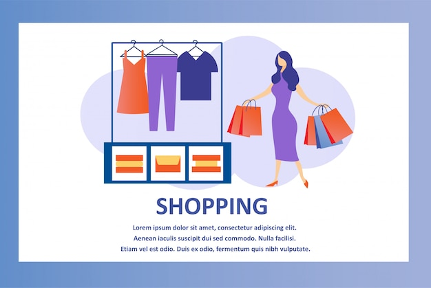 Modelo de design de vetor para loja de roupas on-line