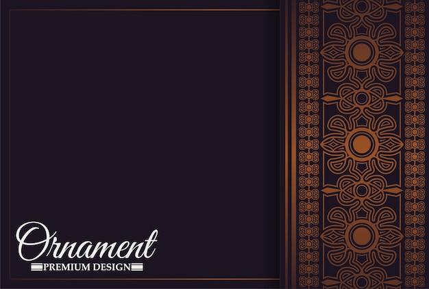 Modelo de design de voucher de presente de luxo de restaurante com menu