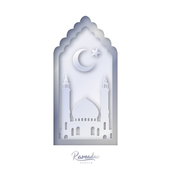 Modelo de design decorativo islâmico. ramadan kareem.