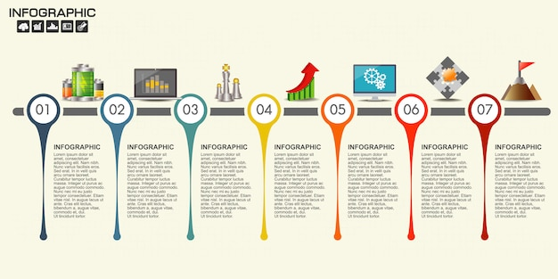 Modelo de design do cronograma de infográfico
