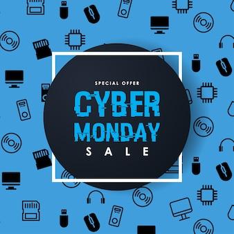 Modelo de design do cyber segunda-feira venda inscrição