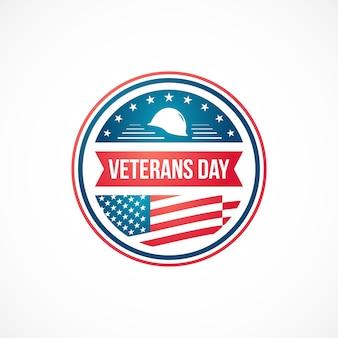 Modelo de design do dia dos veteranos para o emblema