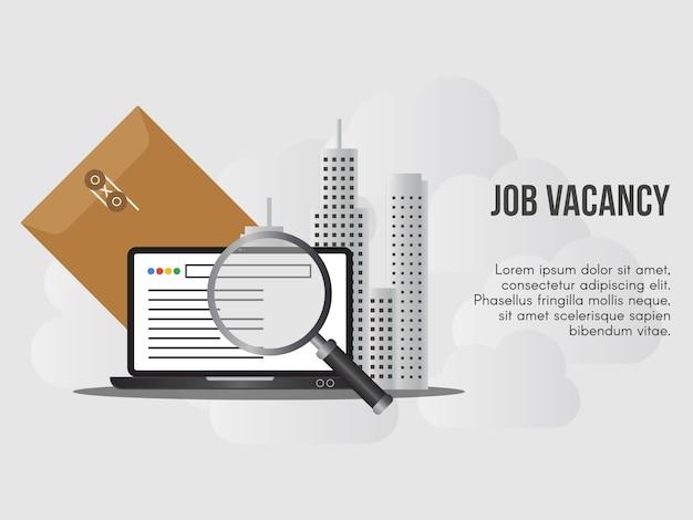 Modelo de design do emprego vaga conceito ilustração vetorial