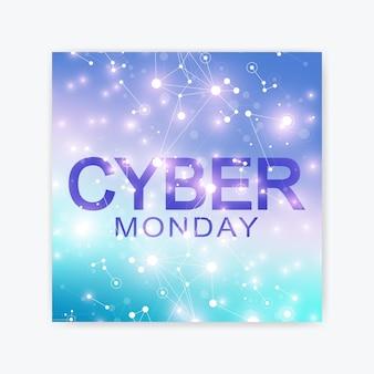 Modelo de design do folheto de venda cyber segunda-feira.
