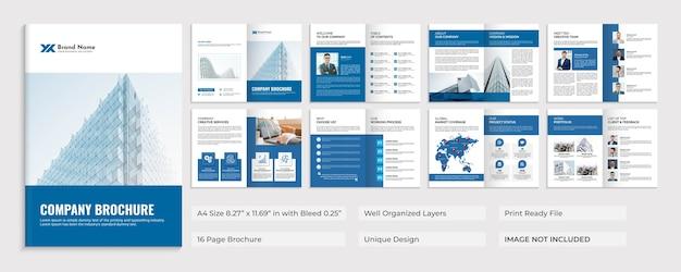 Modelo de design do folheto do perfil da empresa