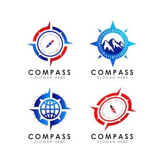 Modelo de design do ícone de logotipo de bússola