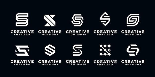 Modelo de design do ícone de logotipo inicial da letra s.