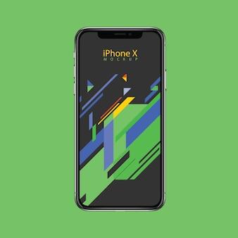 Modelo de design do iphone x mockup