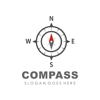 Modelo de design do logotipo compass