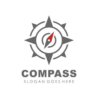 Modelo de design do logotipo compass