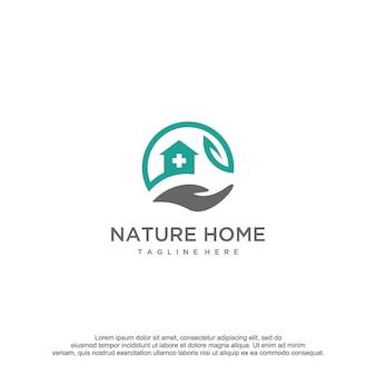 Modelo de design do logotipo da natureza para casa